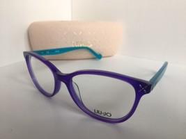 New Elegant LIU JO LJ 2605 LJ2605 435 Purple Aqua 52mm Women's Eyeglasses Frame  - $149.99
