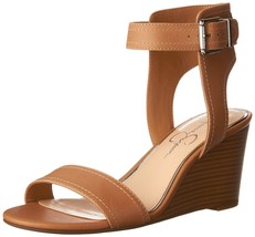 Jessica Simpson Women's Cristabel Wedge Sandal Buff 10 B(M) US - $39.11