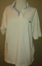 Vtg 90's Tommy Hilfiger White  Polo Shirt sz L - $27.71