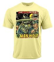 Man Wolf Dri Fit graphic Tshirt moisture wick SPF retro comic book sport tee image 2