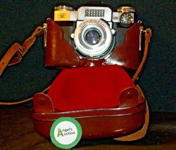 Zeiss Ikon Contaflex Super Camera with hard leather Case AA-192012 Vintage image 3