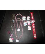 Hello Kitty Lot Watch Bracelet Necklace Mini Figures 9 Piece - $7.83