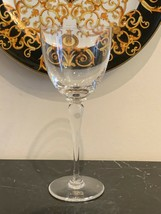 "St Louis Crystal Signed Amadeus Water Goblet 8 7/8"" - $119.00"