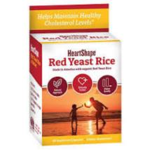 HeartShape Natural Organic Red Yeast Rice Vegetarian 60 Capsules 06/2019 - $11.81