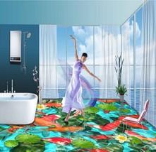 3D Fisch Blume Wasser 879 Fototapeten Wandbild Fototapete Bild Tapete Familie - $67.89+