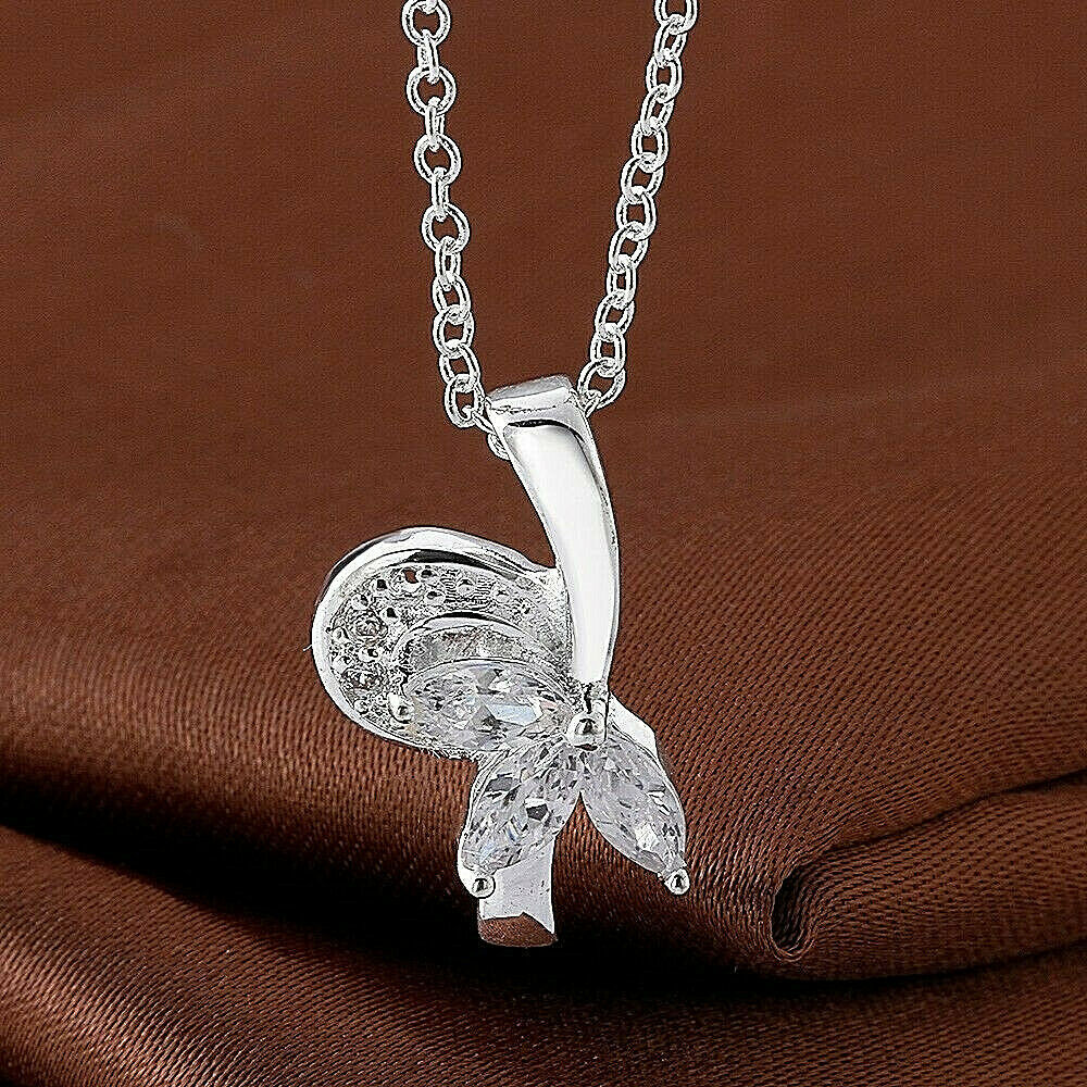 Primary image for Crystal Splash Pendant Necklace 925 Sterling Silver NEW