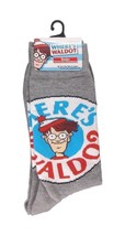 Where's Waldo Socks sz M/L Medium/Large (6-12) Grey - $17.99