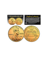 1943 TRIBUTE Steelie WWII Steel PENNY Coin Clad in Genuine 24K GOLD (Lot... - $11.86 CAD