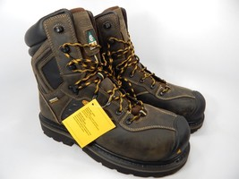 "Keen Tacoma 8"" XT CSA Water/Shock Proof Steel Toe Work Boots Sz 9 2E WIDE EU 42"