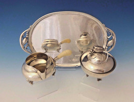Blossom by Georg Jensen Sterling Silver Sugar and Creamer w/Tray 3pc Set #0013 - $8,550.00