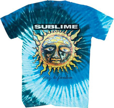 Sublime-Sun-40 oz To Freedom-Large Blue Tie Dye T-shirt - $29.02