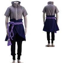Naruto Uchiha Sasuke Cosplay Costume Ninja Outfit Uniform Set - $69.24