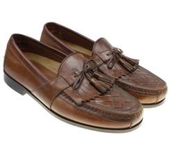 Johnston Murphy Mens Halsey Kiltie Tassel Loafer Shoes Brown 020-2394 Si... - $24.70