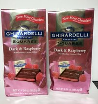 Ghirardelli Dark Chocolate Candy Squares with Raspberry Filling 6.38 Oz. (Pack o - $22.35