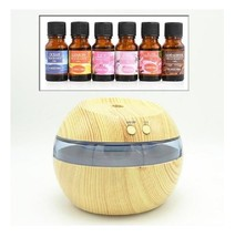 Diffuser With 6 Asst Organic Aromatic Essential Oils & Scents 4 Your Rel... - $39.98