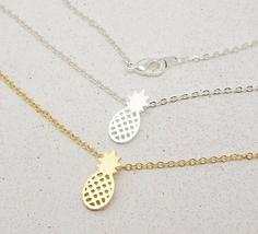 Shuangshuo Pineapple Theme Pendant / Necklace Link with Chain for Ladies / Women image 6