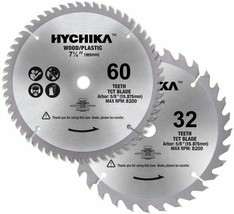 """2 Packs Saw Blades, 7-1/4"""" 60 Tooth & 32 Tooth Blades with 5/8"""" Arbor, S... - $19.79"""
