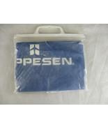 Aqua Sheen Vinyl Rain Poncho Jeppesen Aviation Blue  - $29.69