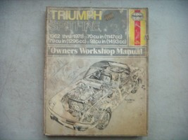 Triumph Spitfire  Haynes Repair Manual, Service Guide 1962-1978. Book - $14.70