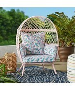 Stationary Outdoor Kids Egg Chair Garden Children Seat Patio Seating Fur... - $112.19