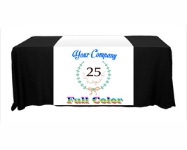 Customize Table Runner Cloth Using Your Text and Log 3'x6' advertise your busine image 3