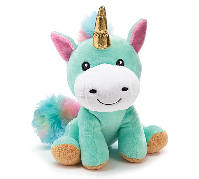Burton & Burton  Plush 8 Rainbow Unicorn with Gold Horn