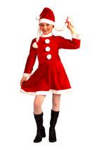 LITTLE MISS SANTA'S HELPER GIRL'S SMALL SIZE SANTA'S HELPER CHRISTMAS CO... - $18.39