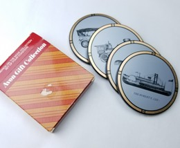 "Avon ""America On The Move"" Set Of 4 Coasters New Vintage In Box For Man ... - $9.75"