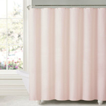"""Honeycomb Embossed Microfiber Polyester Shower Curtain 70""""x72"""" Blush - $14.99"""