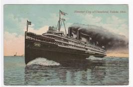 Steamer City of Cleveland Toledo Ohio 1912 postcard - $4.46