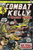 Combat Kelly and the Deadly Dozen Comic Book #9, Marvel Comics 1973 VERY... - $7.38
