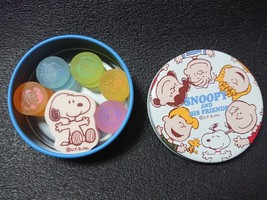SNOOPY and His Friends Eraser with can case Japan Old Rare Goods - $26.18