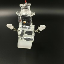 Lucite Sledding Ice Cube Figurine 5 Inches Tall Dept 56 Acrylic - $14.99