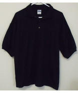 Mens Gildan NWOT Black Short Sleeve Polo Shirt Size XL - $15.95