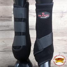 X Large Hilason Infra Tech Horse Medicine Sports Boots Front Leg Black U-K-XL - $55.95