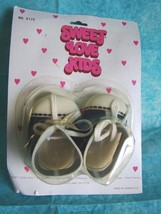 Vintage Doll Shoes Sweet Love Kids Oxford Seale... - $12.16