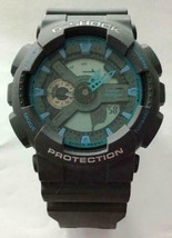 Casio G Shock GA110TS-1A2 Quartz Grey Blue 51.2mm 200 Meters  DEFECTIVE - $37.95
