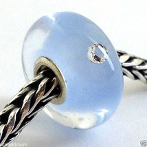 Authentic Trollbeads Baby Boy Glass Charm  81004, New - $28.49
