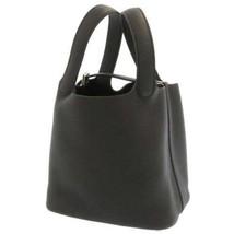 HERMES Picotin Lock PM Taurillon Clemence Black Silver HW Handbag #D France - $3,850.45