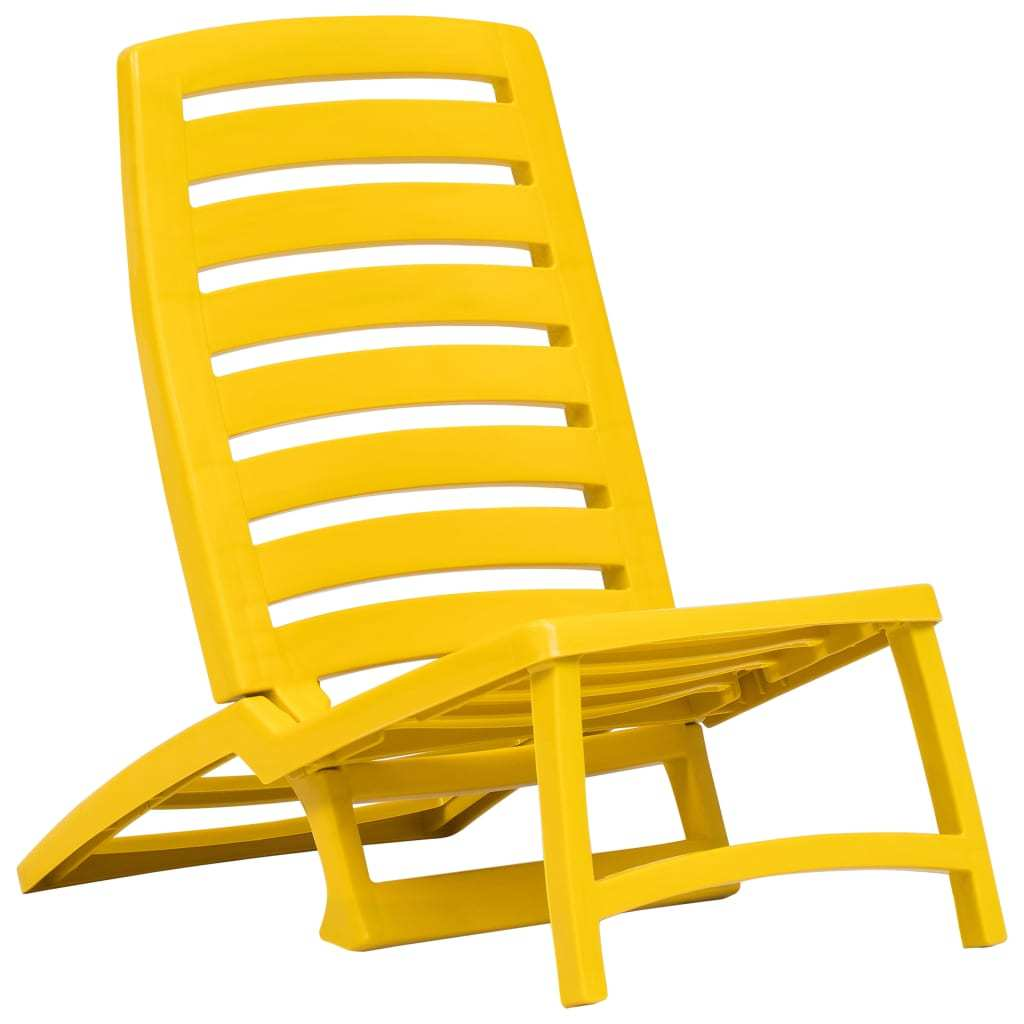 vidaXL 4x Folding Beach Chairs Plastic Beach Seat Outdoor Chair Multi Colors image 7