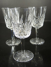 Three Waterford Water Goblets - Lismore Pattern - $75.99