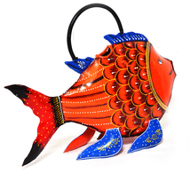 Multi-color Fish Shape Hand Painted Watering Can,Kids Children Garden Wa... - $42.95