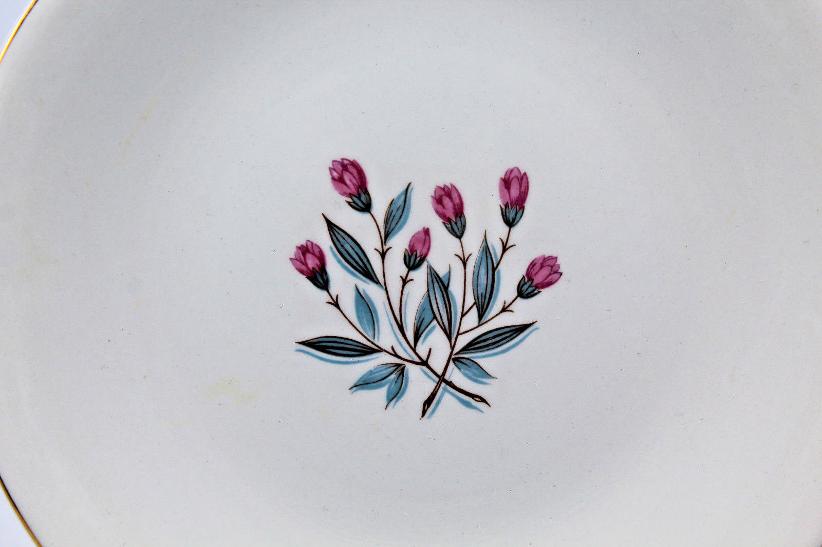 Enoch wedgwood tunstall ltd Bread and Butter Side Plate Pink Flower 17.5 cm image 4