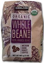 Kirkland Signature Organic Whole Bean Blend 100 % Arabica Beans Net Wt (... - $64.34