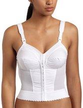 Exquisite Form Women's Front Close Longline  Bra 5107530, White, 40B
