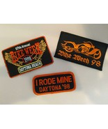Harley Davidson Motorcycle Daytona Bike Week 1998 Patches Unused - $14.85