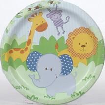 """Creative converting Jungle forest friends Fun cake Plates 8 count -7"""" diameter - $1.57"""