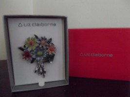 Vintage Liz Claiborne Multi-Color Enameled Daisy Flowers Brooch (Never worn) - $45.00