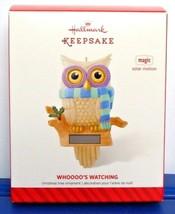 2014 Hallmark Keepsake Owl Ornament Whoooo's Watching Magic Solar Motion Who's - $21.90
