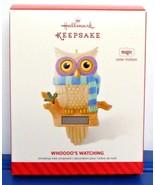2014 Hallmark Keepsake Owl Ornament Whoooo's Watching Magic Solar Motion... - $21.90